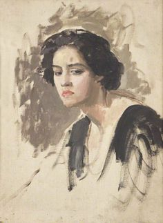 Portrait of a Woman / Augustus Edwin John / early century / oil on canvas Female Portrait, Portrait Art, Portraits, Female Art, Portrait Paintings, Post Impressionism, Art Uk, Beauty Art, Your Paintings