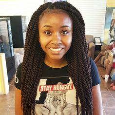 Medium Marley Twists  Houston Hair Stylist...Katahlia Blue