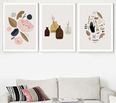 Canvas Wall Decor, Wall Art Prints, Canvas Prints, Canvas Art, Wall Pictures, Living Room Pictures, Nordic Art, Leaf Wall Art, Modern Wall Art