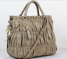 Cheap Prada Nappa Leather Top Handle Bag light grey 5011,Prada Outlet On Sale