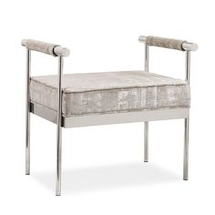 Diva Silver Textured Bench
