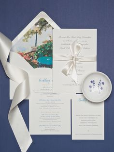 Invitations: Fanciful Florals - My New Orleans Watercolor Images, Destination Wedding Invitations, Envelope Liners, Winter Springs, Wedding Weekend, Crane, Letterpress, New Orleans, Card Stock