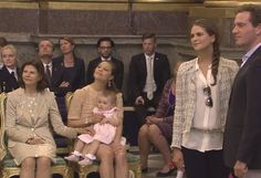 Miss Honoria Glossop:  Rehearsal of Princess Madeleine's Wedding-Queen Silvia, Crown Princess Victoria with Princess Estelle, Princess Madeleine and Chris O'Neill