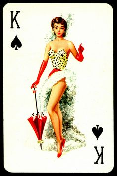 """Biba"" Playing Card - King of Spades"