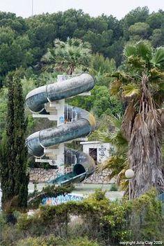 Abandoned Water Park Aquatic Paradis Sitges Spain