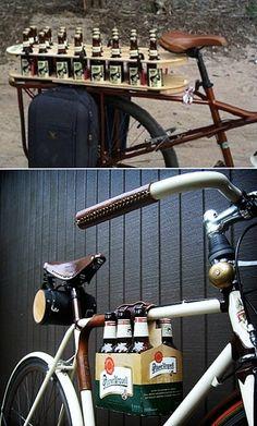 bike beer carrier. genius.