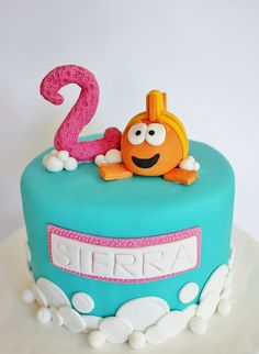 Bubble Guppies Cake by lydiabakes, via Flickr