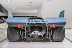 Rear end of the Gulf liveried Porsche 917. AKA THICC ASF [OC] [6000x4000]