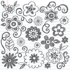 Image result for doodle flowers