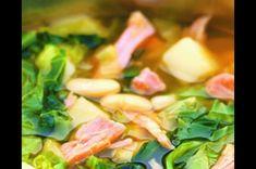 Kapustová polévka s uzeným