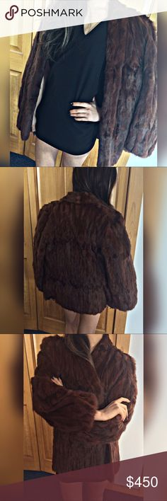 """Genuine Mink Vintage Cape/Coat ALASKA FUR COMPANY Vintage Mink Fur Cape/Coat 100% Genuine Mink Fur, EXCELLENT CONDITION. """"MEC"""" I believe is French for """"Men"""" however my Grandmother passed this down to me from her personal 1960-1970's collection. Suggested Womens MEDIUM or Mens S.  Modeled by an XS/S.   ***I do not wish to be asked about my moral opinions regarding wearing fur and in returned courtesy, I will not ask to discuss yours. Comments disrespecting either side will not be responded…"""