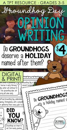 Groundhog Day Writing (Digital & Print)