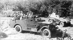 "Armored personnel MZA1 ""Scout car"", the 10th Guards Mechanized Brigade of the 5th Guards Mechanized Corps 4th Guards Tank Army of the 1st Ukrainian Front, Germany, April 1945."