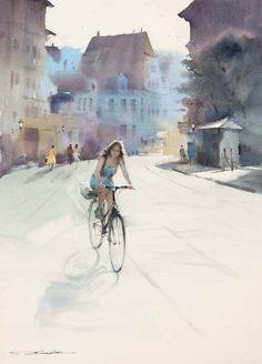 Watercolor by Xī sài lián/Chinese