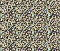© 2011 Grande Jewelled Leopard fabric by glimmericks on Spoonflower - custom fabric