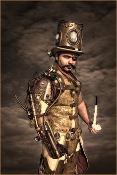 Steampunk- Totally got to see this gent at Lincoln steampunk festival 2011 :)