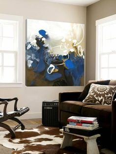 Blue Abstract Loft Art by Meejlau at Art.com