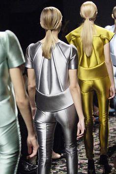 Balenciaga SS08 high fashion metals