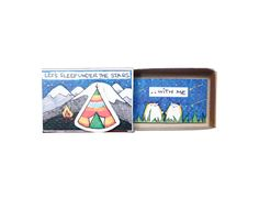"LV095 - ""Let's sleep under the stars with me"" Matchbox Card"
