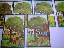*Nachbars Äpfel*DDR-Merk- und Legespiel*Vintage*