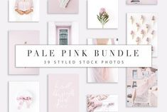 Pale Pink Bundle by Floral Deco on @creativemarket Social media creative design posts for promotion marketing design templates. Use it for quotes, tips, photos, etiquette, ideas, posts or for presentation your business agency, products sales or designs. Ready to use on Instagram, Pinterest, Facebook, Twitter your Blog or Website.