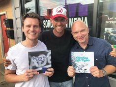 Jonathan Groff, with Michael Cerveris, to read and record a children's book for the charity Red Fred Project in Pittsburgh, 19 Jun 2018.