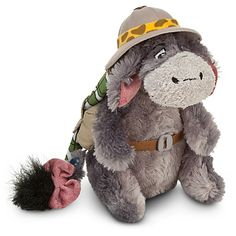 Join the hunt for happiness around the world with our cuddly Eeyore plush in safari outfit. Direct from Disney's Animal Kingdom park, soft-stuffed Eeyore is a mule packed for adventure! Disney Plush, Disney Toys, Disney Stuff, Eeyore, Tigger, Cuddles And Snuggles, Winnie The Pooh Friends, Pooh Bear, Disney Merchandise
