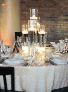 Photographer: Erica Rose Photography; Wedding reception centerpiece idea;