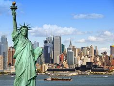 The Statue of Liberty is a symbol of the United States located on Liberty Island, New York City.