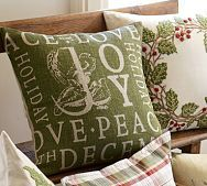 Holiday Stamp Pillow Cover - Pottery Barn 2012