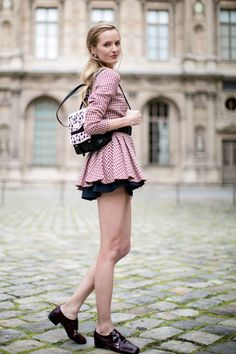 Off duty girly: Daria Strokous