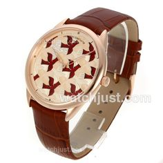 Perfect Replica Vacheron Constantin Dove for Only Watch 2011 with Rose Gold Case-Brown Leather Strap