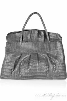 Nancy Gonzalez grey croc bag