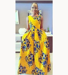 Yellow Block floor length butterfly dress, prom dress, African dresses for wedding, African dresses for prom. This effortlessly beautiful dress will suit all body shapes and sizes. African Fashion Ankara, African Inspired Fashion, African Print Fashion, African Wear, African Attire, African Women, African Dress, Nigerian Fashion, Ghanaian Fashion