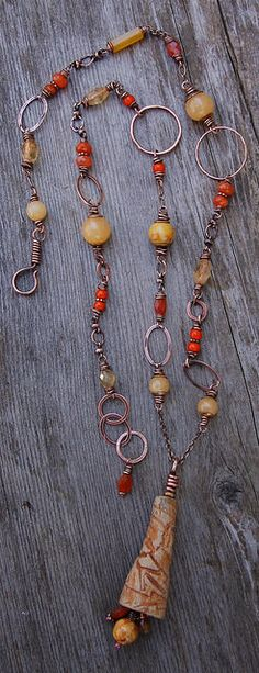 New necklace by Cynthia Maurray Design featuring ceramic piece by BH Claysmith