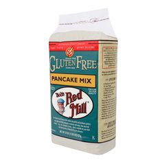 GF Pancake Mix Ingredients: potato starch, sorghum flour, tapioca flour, corn flour, evaporated cane juice, baking powder (sodium acid pyrophosphate, sodium bicarbonate, corn starch, monocalcium phosphate), baking soda, sea salt, xanthan gum.
