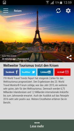 #Born2Invest: die besten Geschäfts- und Finanznachrichten aus den vertrauenswürdigen Quellen. Jetzt unsere kostenlose Android App herunterlade. #weltweite #tourismus #krisen