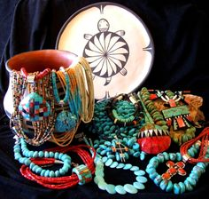 Turquoise Jewelry | Turquoise jewelry purchased on a trip to the Southwest when you were ...