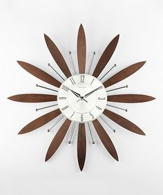 """Another great find on #zulily! Espresso Floral Wall Clock by Control Brand #zulilyfinds  $50 19.25"""" diameter"""