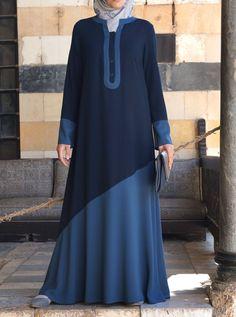 Like a Dream Abaya Hijab Fashion 2016, Muslim Women Fashion, Abaya Fashion, Fashion Mode, Modest Fashion, Fashion Dresses, Muslim Dress, Hijab Dress, Modele Hijab