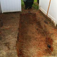 Hole dug