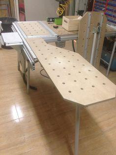 Prolongacion mesa festool Paulk Workbench, Woodworking Workbench, Woodworking Projects, Workbench Ideas, Workbenches, Festool Tools, Festool Systainer, Workshop Storage, Tool Storage