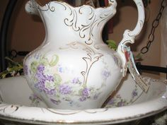 Beautiful vintage bowl and pitcher.  June 2012