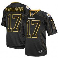 6e7889439 NFL Mens Elite Nike Pittsburgh Steelers  17 Mike Wallace Lights Out Black  Jersey 129.99 Ramon