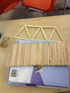 Popsicle stick bridge; great project for structures unit. Use wood glue and 100 popsicle sticks.