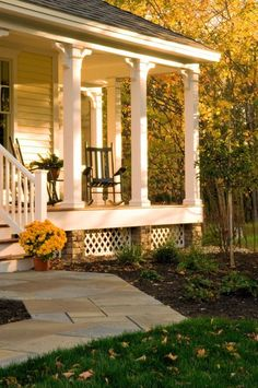 I think I would like to change out my ornate front porch columns for these chunky ones.
