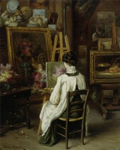 In The Artists Studio, Eugene Claude. French (1841 - 1922)