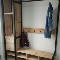 Wood and steel moped construction virtual shop – www.brommerhouten … - Home Decor Ideas Kids Room Furniture, Hallway Furniture, Metal Furniture, Diy Furniture, Small Home Offices, Diy Organisation, Welcome To My House, Hallway Storage, Entrance Hall