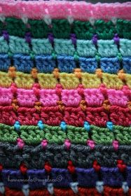 homemade@myplace: Block Stitch Afghan : the way I do it !!!! free pattern
