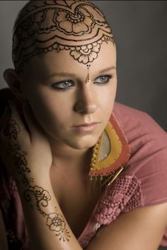 """Henna """"crowns"""" - a way to empower and heal people experiencing hair loss, and to help them feel beautiful and confident."""